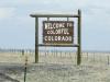 Colorado Border Sign from New Mexico