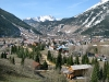 View of Silverton, CO from the hillside above town