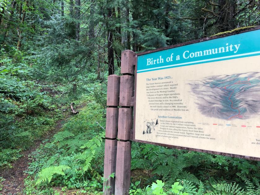 Westfir Cascades Scenic byway