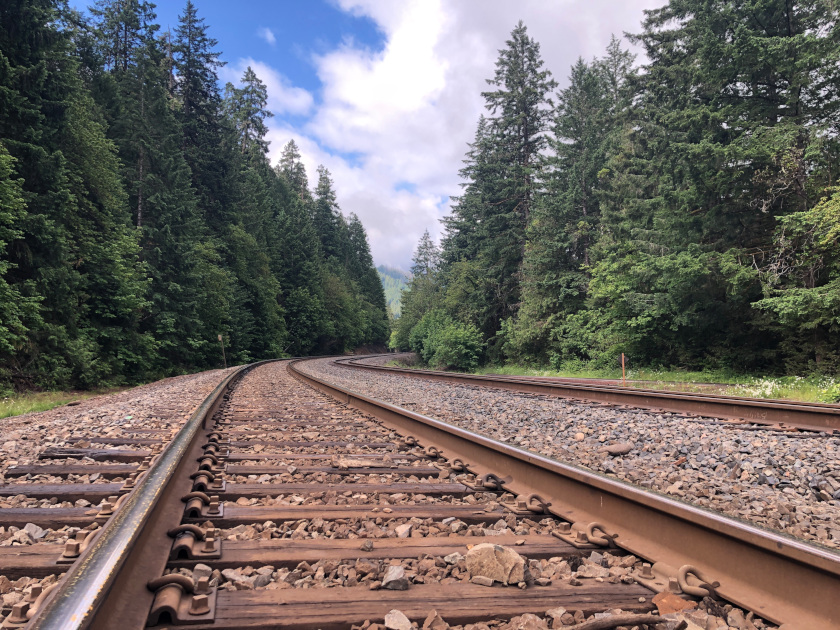 Westfir Railroad Tracks