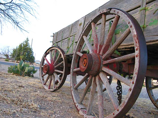 old wagon wheels