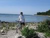 Biking Lake Michigan near Belgium, WI