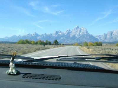 Grand Tetons and Dashboard Jackelope