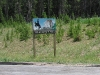 Wyoming State Border Sign