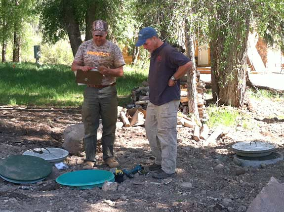Inspecting New Ranch Sewer System