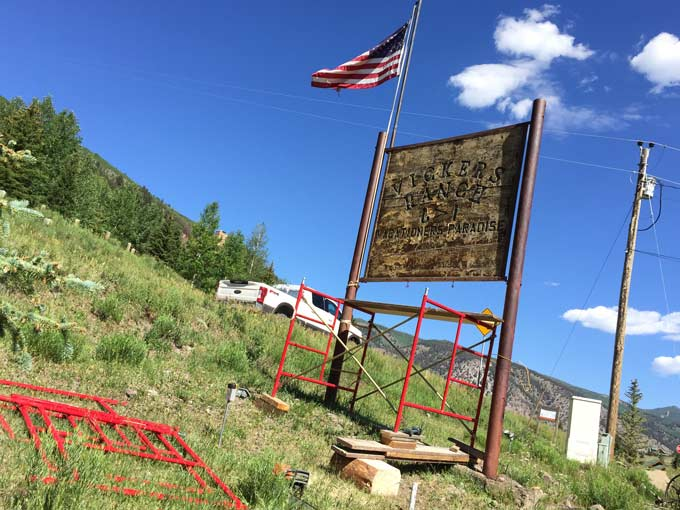 vickers ranch sign
