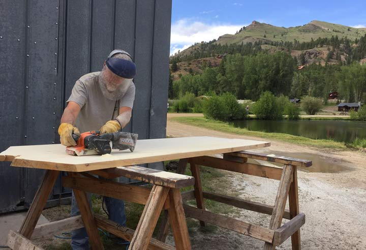 Vickers Ranch Workamping Woodworking Project