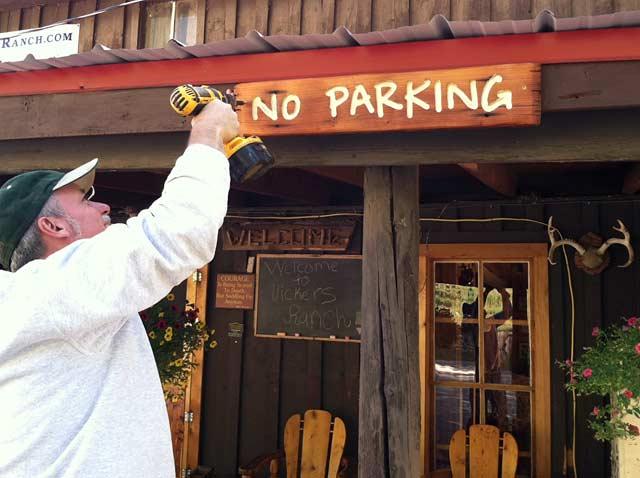 Sign Making at Ranch Workamping Job