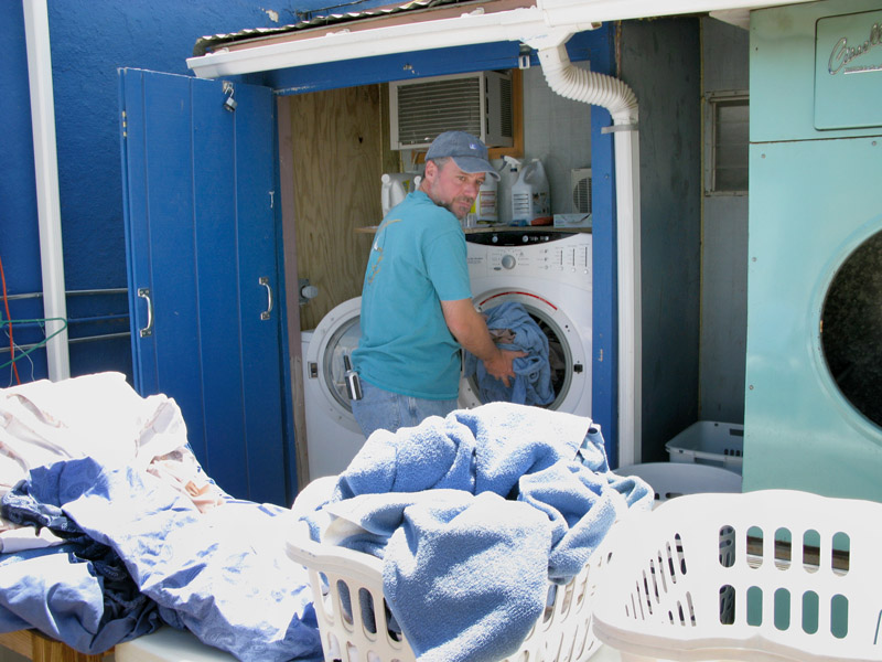 Day shift workamping at Riverbend means laundry.