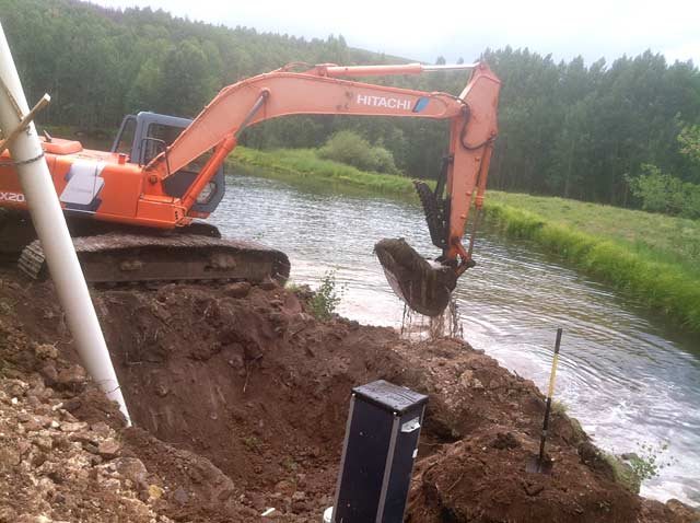 Agridrain Installation with Excavator