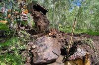 Vickers Ranch Backhoe installing culvert
