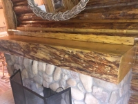 Vickers Ranch Custom Log Mantle