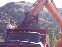 Workamping with Ford Dump Truck and Excavator