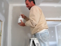 Painting the new Safe Harbor veterinarian office