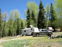 Workamper campsite Vickers Ranch Colorado