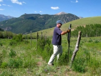 Vickers Ranch Workamping Mending Fences