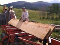 Ranch Workamping Job Milling Lumber on Woodmizer Portable Mill