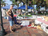 Selling fresh produce at the Fort Pierce Farmers Market