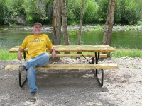 Rough Cut Lumber Picnic Table for Vickers Ranch Homeowner