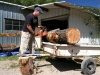 Jim Chainsaw Cuts Log Benches Handmade Workamping
