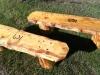 Log Benches Jim Made Workamping at Vickers Ranch