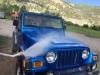 Washing Jeeps at Vickers Ranch Workamping Job