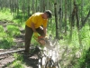 Cutting Firewood at Vickers Ranch Workamping Job