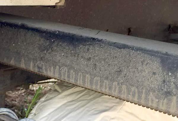 Dirty Rusty RV Slide-out Rail