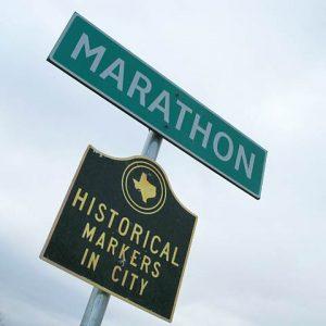 marathon training on the road
