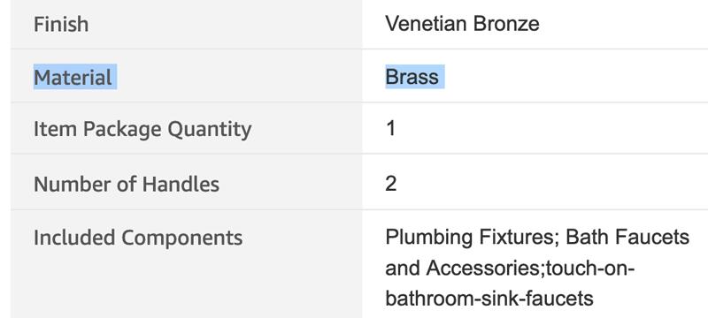 brass rv faucet