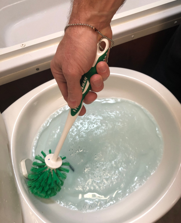 best RV toilet cleaning tip