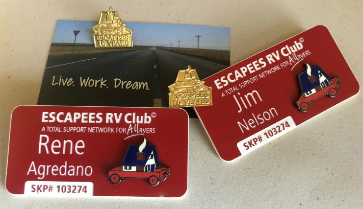 Escapees RV Club 10 year Pin