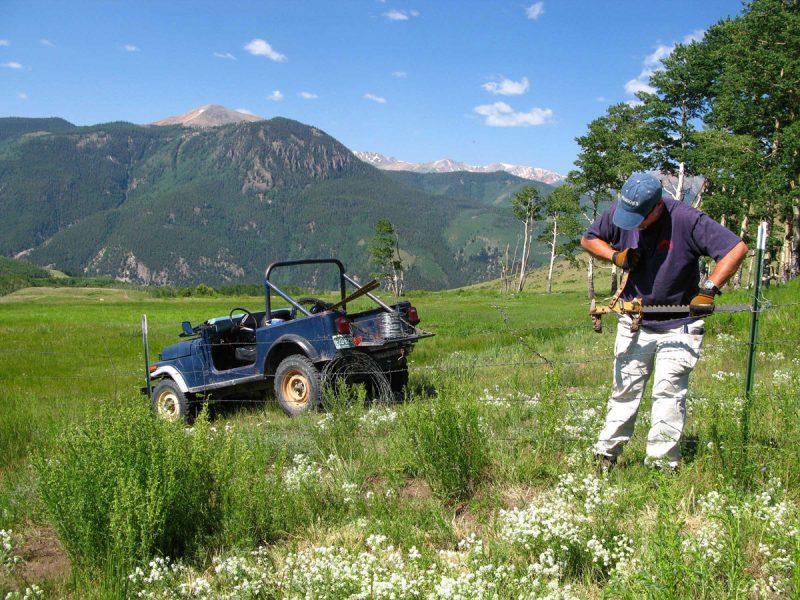 Jim Workamping Vickers Ranch