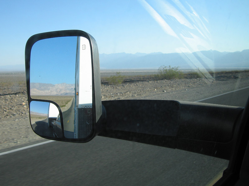 death valley rearview mirror