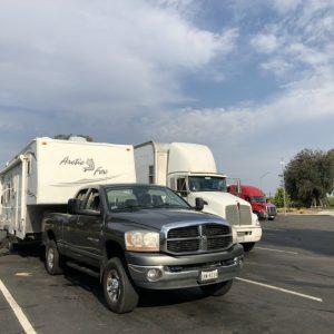 Pandemic RVing CA Truck Stop