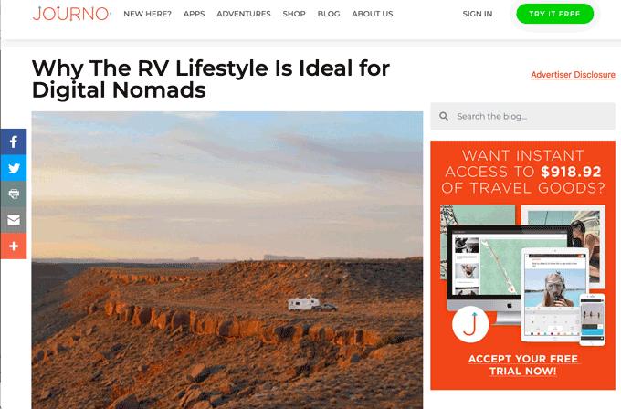 journo travel blog