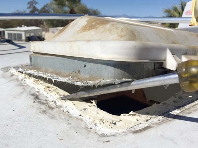 replace rv vent