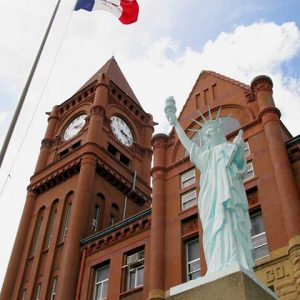 Fairfield, IA Courthouse Statue of Liberty