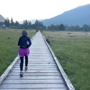 Running-on-Estuary-Boardwalk-Stewart-British-Columbia